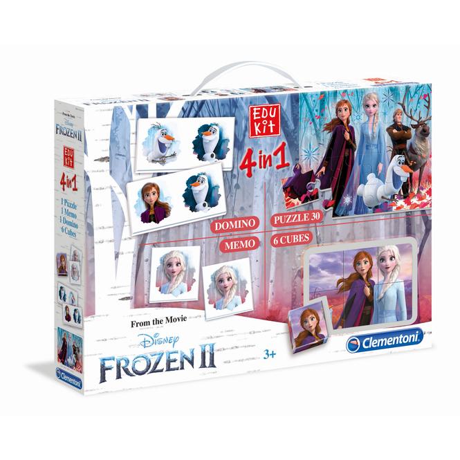 Die Eiskönigin 2 - Edukit 4 in 1 - Puzzle und Spiele