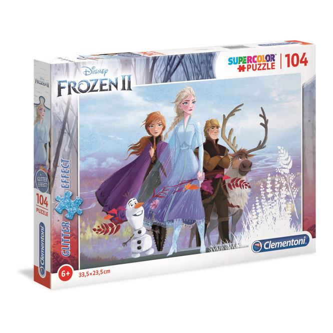 Die Eiskönigin 2 - Kinderpuzzle - 104 Teile - Glitter