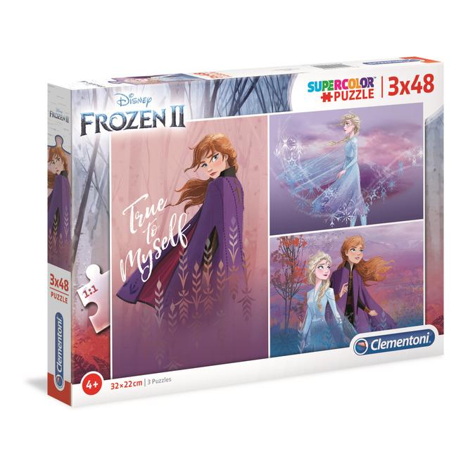 Die Eiskönigin 2 - Kinderpuzzle Set - 3 x 48 Teile - Supercolor