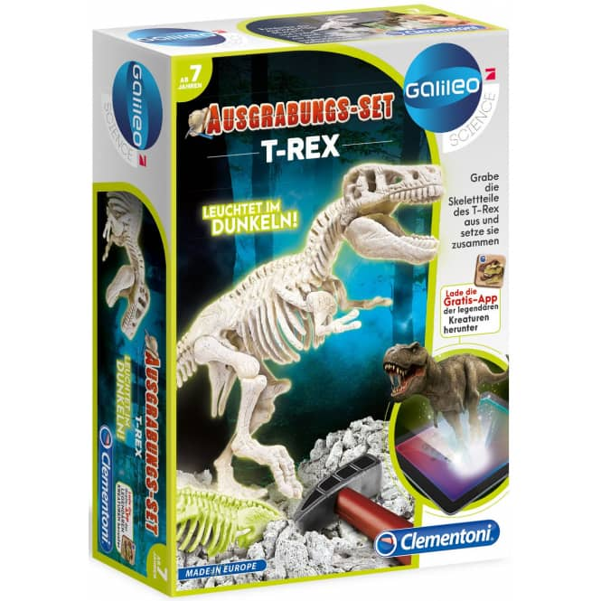 Galileo - Ausgrabungsset T-Rex fluoreszierend - Clementoni