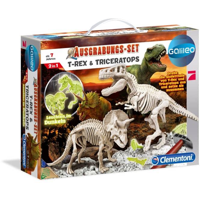 Galileo - Ausgrabungsset T-Rex und Triceratops - Clementoni