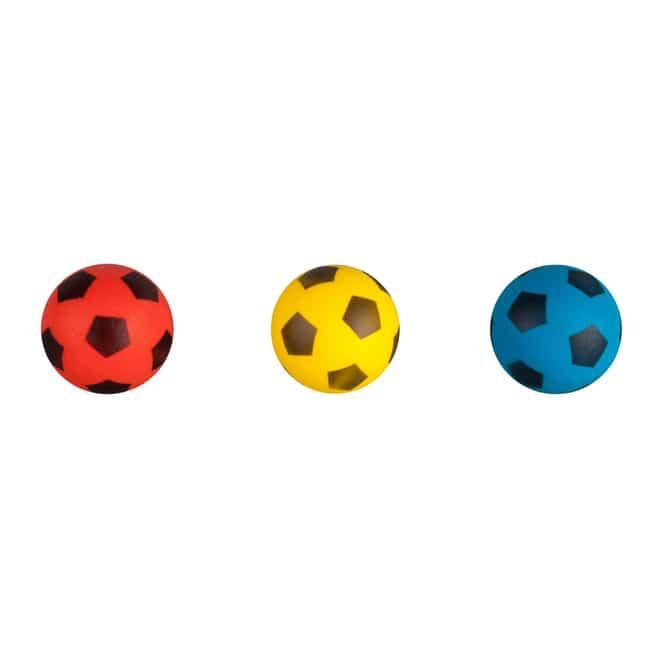 Softball 3er-Set - Fußball-Design - für Schläger - Ø ca. 7 cm