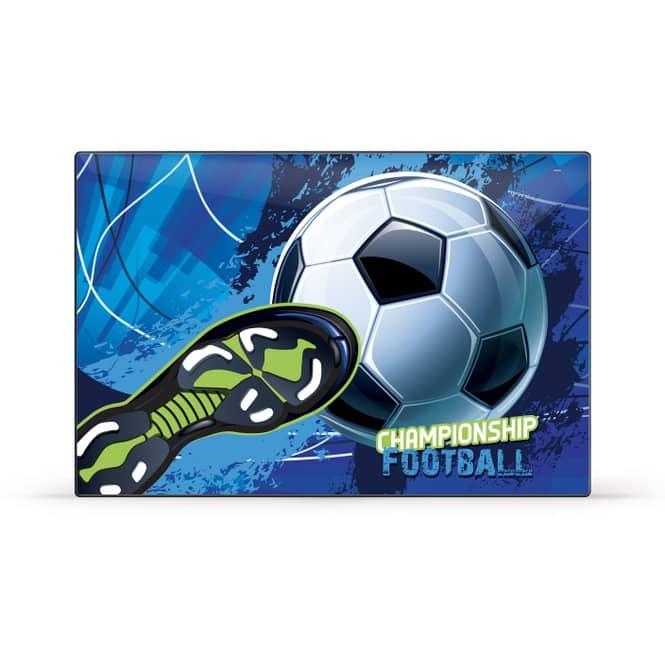 Schreibtischauflage Fußball - blau/grün/schwarz