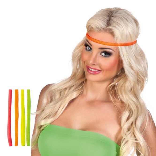Stirnbänder - neon - 4 Stück
