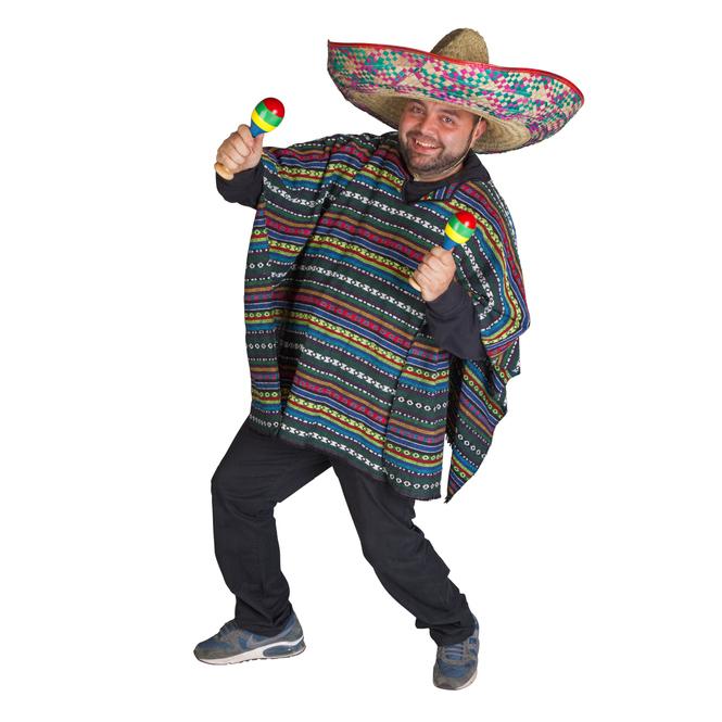 Kostüm - Mexikaner, für Erwachsene, Größe