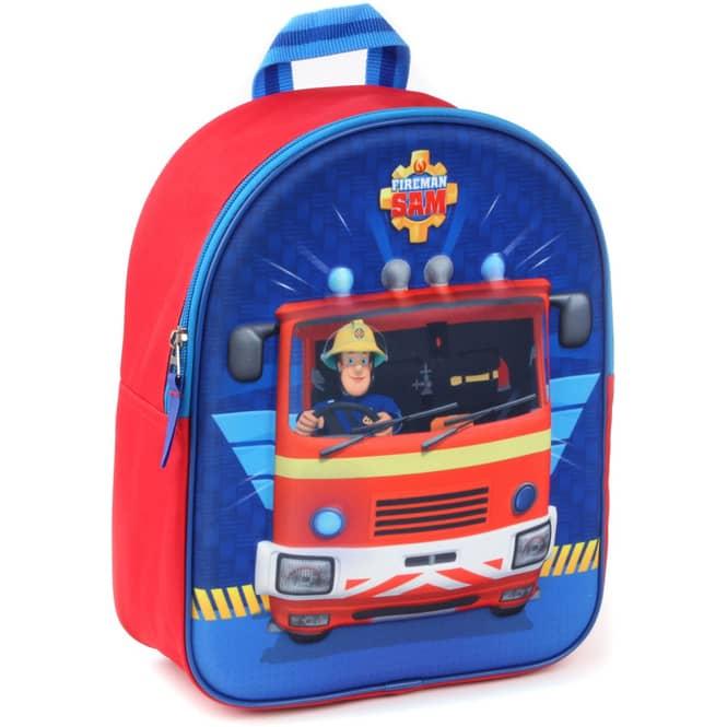 Feuerwehrmann Sam - 3D-Kinderrucksack - rot/blau