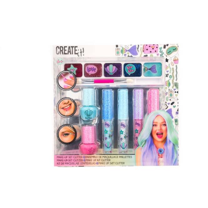 Create it! - Glitzer Make up Set - Meerjungfrau