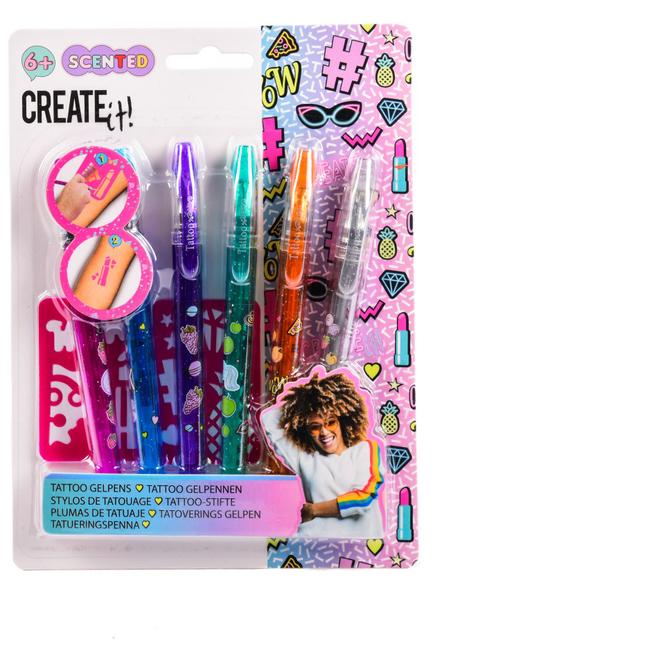 Create it! - 6 Tattoo-Stifte mit 2 Schablonen