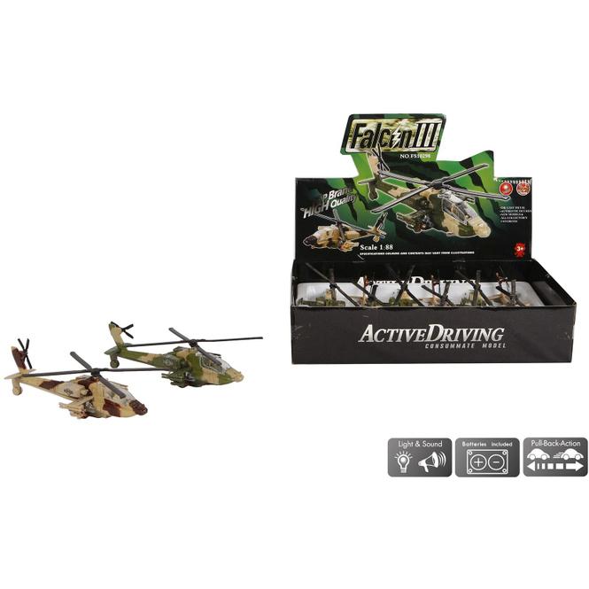 Kampfhubschrauber 1:88 - 1 Stück - verschiedene Modelle