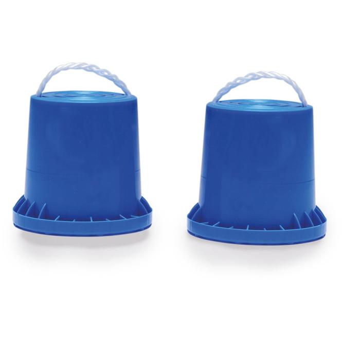 Laufdosen - blau - 2 Stück