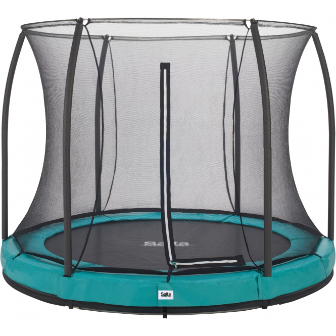Salta - Rundes Bodentrampolin mit Netz - Comfort Edition Ground - Durchmesser: 213 cm - in grün