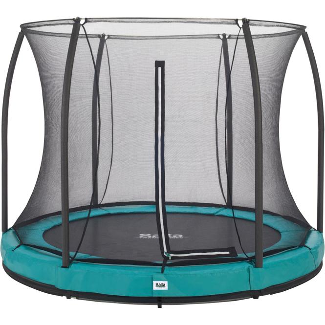 Salta - Rundes Bodentrampolin mit Netz - Comfort Edition Ground - Durchmesser: 251 cm - in grün