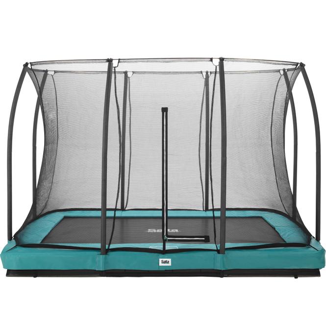 Salta -  Rechteckiges Bodentrampolin mit Netz - Comfort Edition Ground - 214x305 cm - in grün
