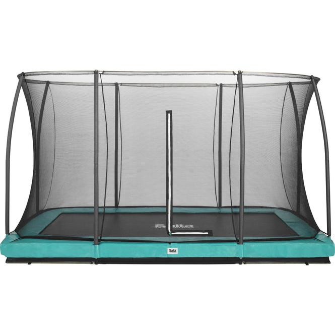 Salta -  Rechteckiges Bodentrampolin mit Netz - Comfort Edition Ground - 244x396 cm - in grün