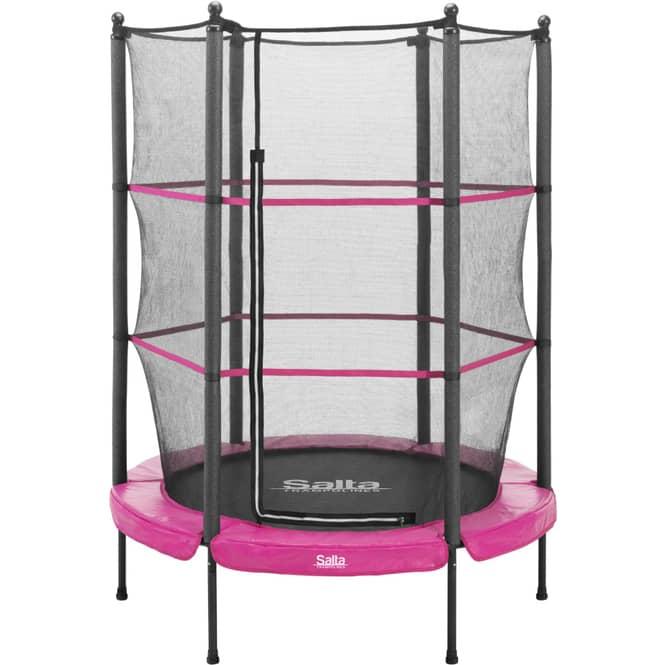 Salta - Junior Trampolin mit Netz - Durchmesser: 140 cm - in pink