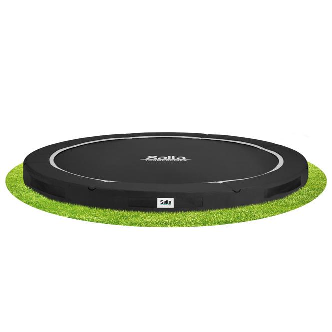 Salta - Bodentrampolin - Premium Ground - Durchmesser 396 cm - schwarz