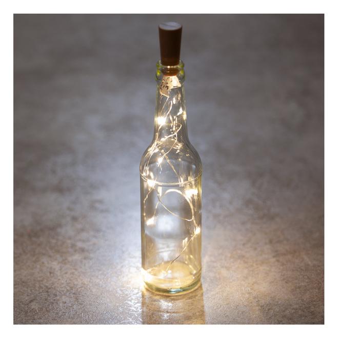 8er LED-Lichterdraht - Korken - ca. 7,5 cm