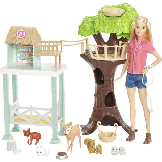 Barbie - Tierarzt-Rettungsstation - Spielset mit Puppe