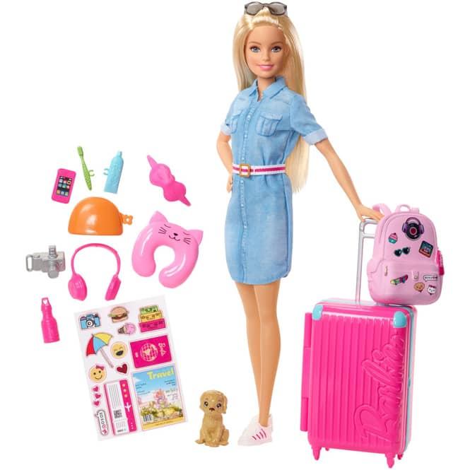 Barbie - Travel Barbie Puppe in blond