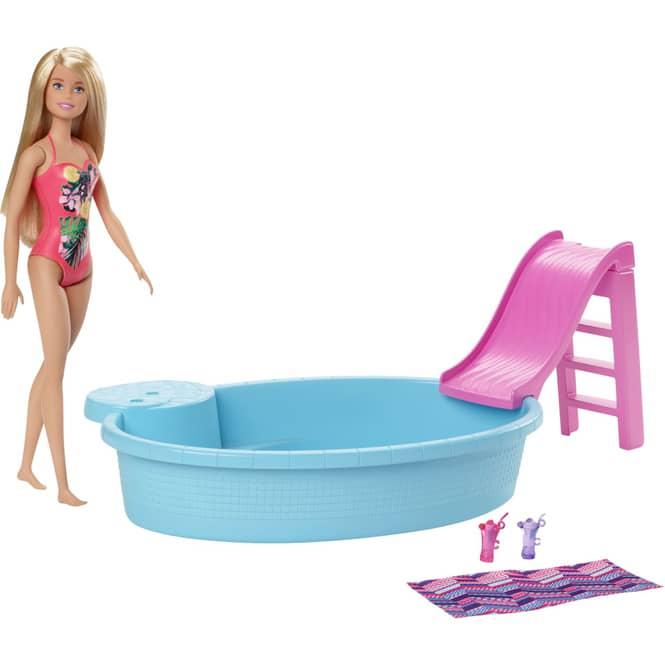 Barbie - Pool - Spielset mit Modepuppe