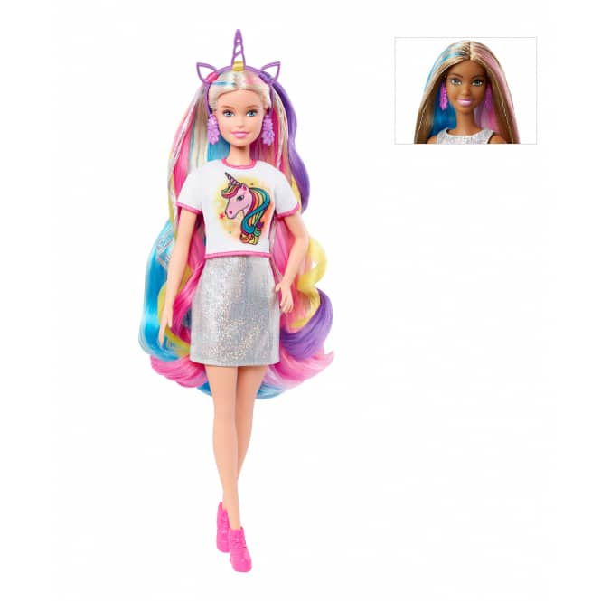 Barbie - Fantasy Hair Puppe - 1 Stück