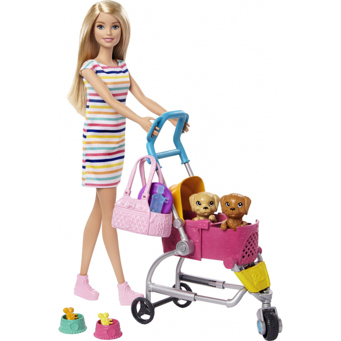 Barbie - Hundebuggy Spielset