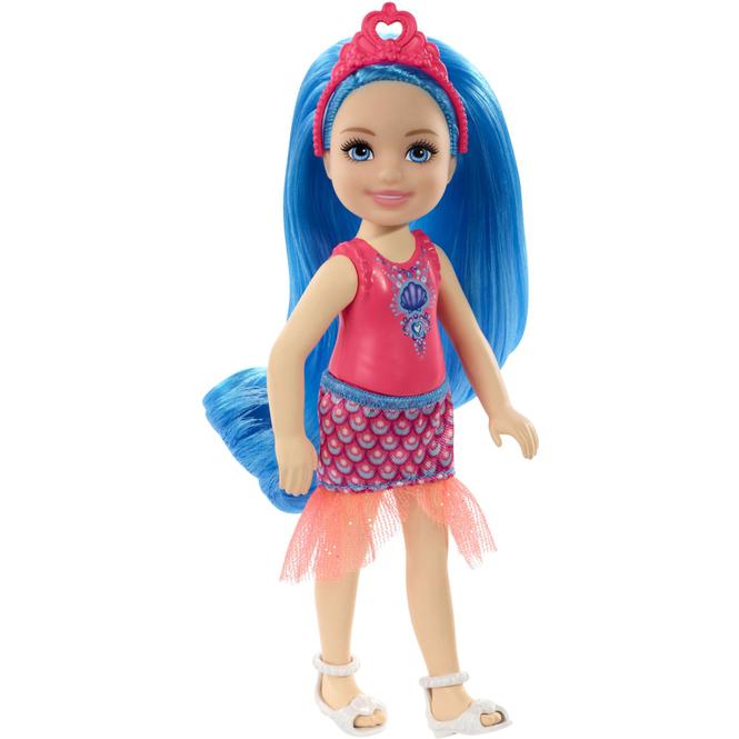 Barbie Dreamtopia - Chelsea und Freunde - Feenpuppe - 1 Stück - blaue Haare