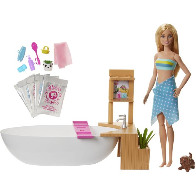 Barbie - Sprudelbad - Spielset mit Modepuppe