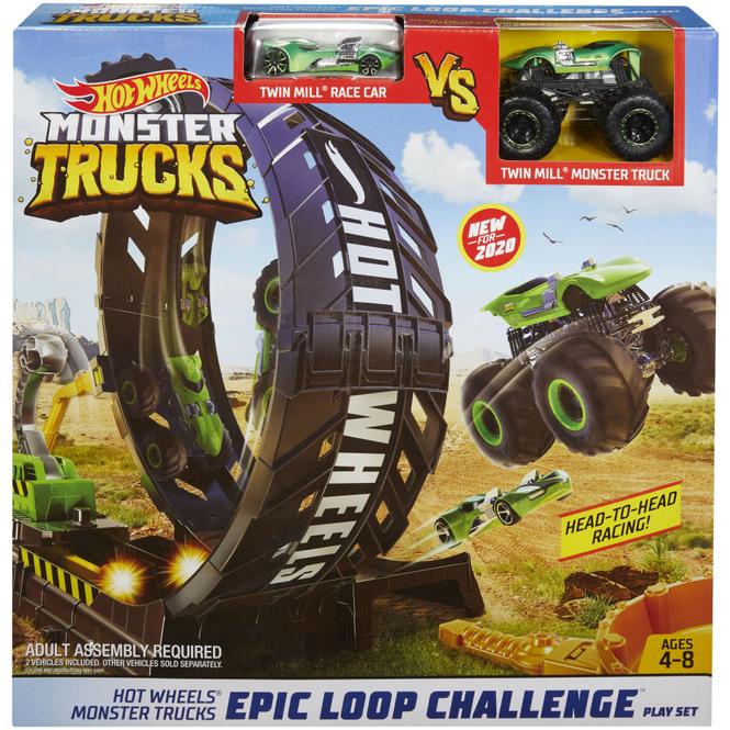 Hot Wheels - Rennbahn - Monster Trucks Looping