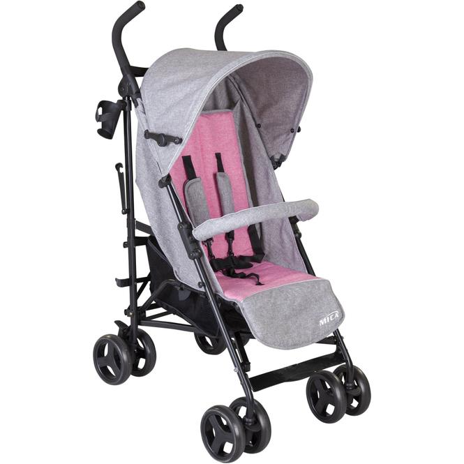 Sportwagen - Walker - rosa/grau/melange