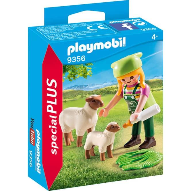 PLAYMOBIL® 9356 - Bäuerin mit Schäfchen - Playmobil Special Plus