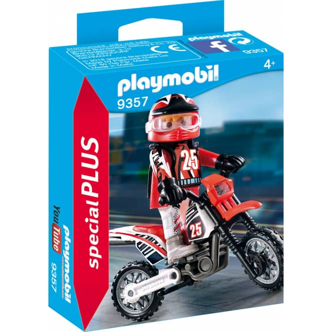 PLAYMOBIL® 9357 - Motocross-Fahrer - Playmobil Special Plus
