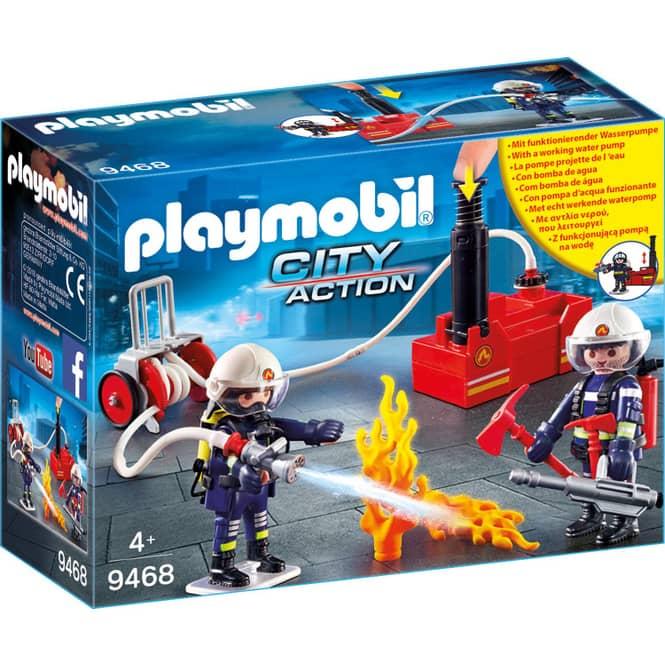 PLAYMOBIL® 9468 - Feuerwehrmänner mit Löschpumpe - Playmobil City Action