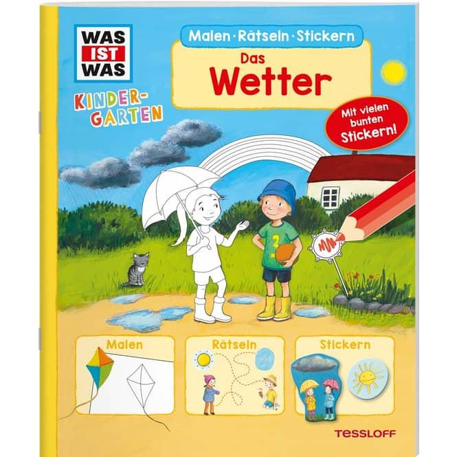 WAS IST WAS Kindergarten - Malen, Rätseln, Stickern - Das Wetter