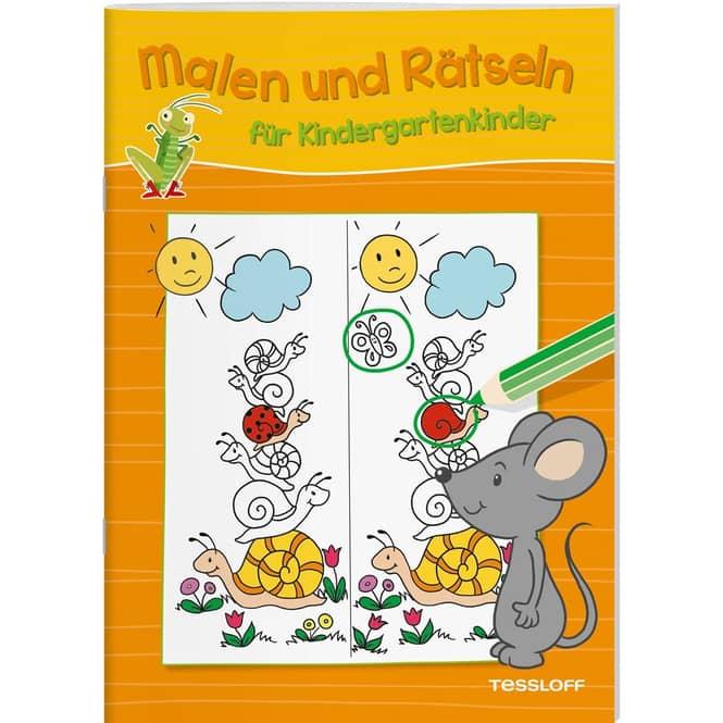 Malen und Rätseln für Kindergartenkinder - Orange