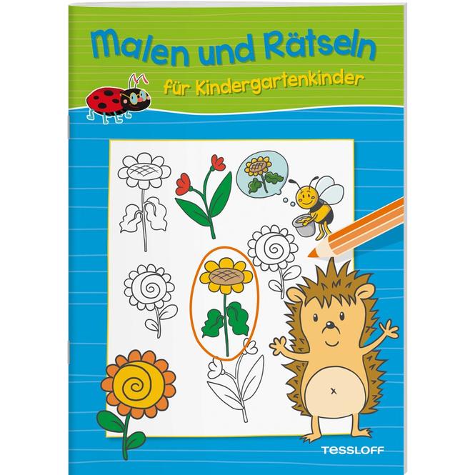 Malen und Rätseln für Kindergartenkinder - Blau