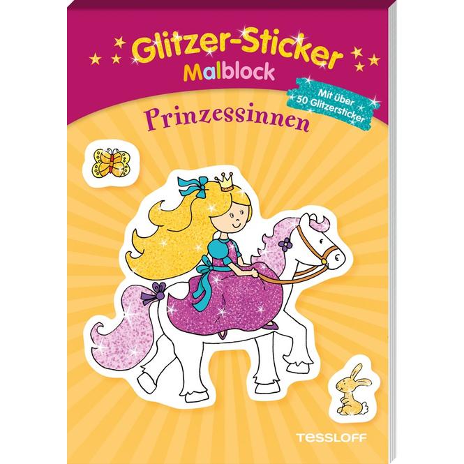 Glitzer-Sticker-Malblock - Prinzessinnen