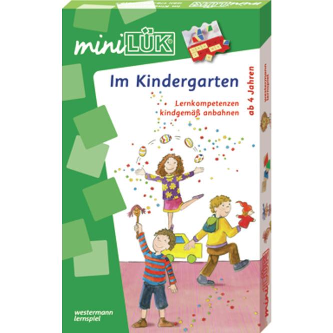 Mini Lük Set - Im Kindergarten - Lösungsgerät und Übungsheft