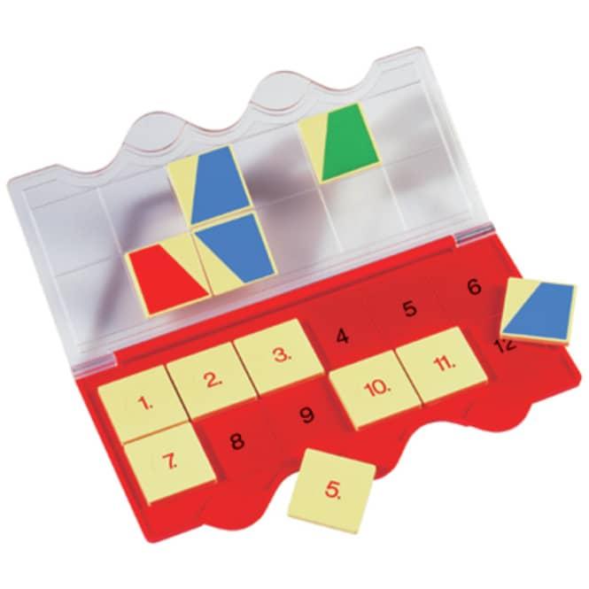 Mini Lük - Lösungsgerät, rot, mit 12 Zahlen