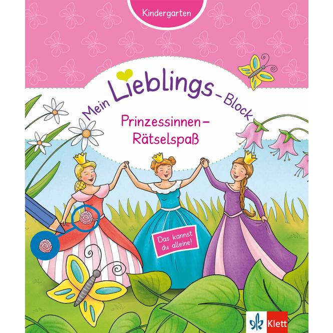 Mein Lieblings-Block Prinzessinnen-Rätselspaß - Kindergarten