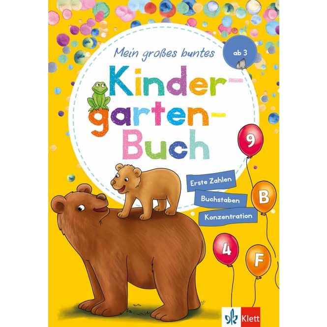 Mein großes buntes Kindergartenbuch - Erste Zahlen, Buchstaben, Konzentration