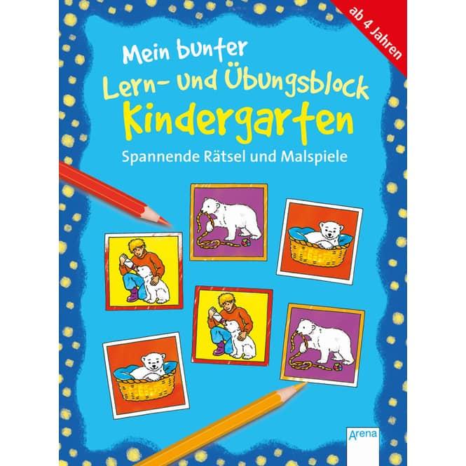 Mein bunter Lern- und Übungsblock - Kindergarten