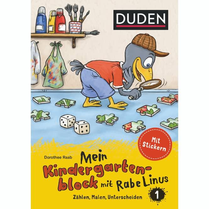 Mein Kindergartenblock mit Rabe Linus - Zählen, Malen, Unterscheiden - 1