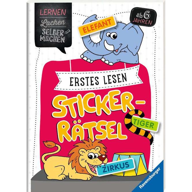 Erstes Lesen - Sticker-Rätsel