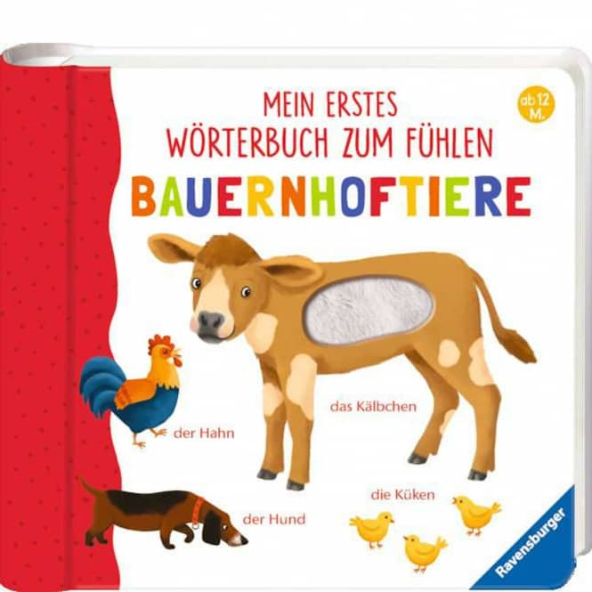 Mein erstes Wörterbuch zum Fühlen - Bauernhoftiere