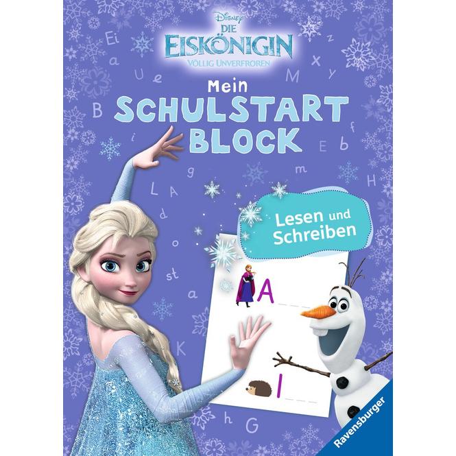 Die Eiskönigin - Mein Schulstartblock - Lesen und Schreiben