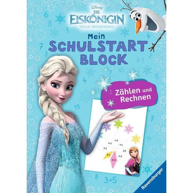 Die Eiskönigin - Mein Schulstartblock - Zählen und Rechnen