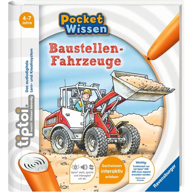 tiptoi® Buch - Pocket Wissen - Baustellen-Fahrzeuge