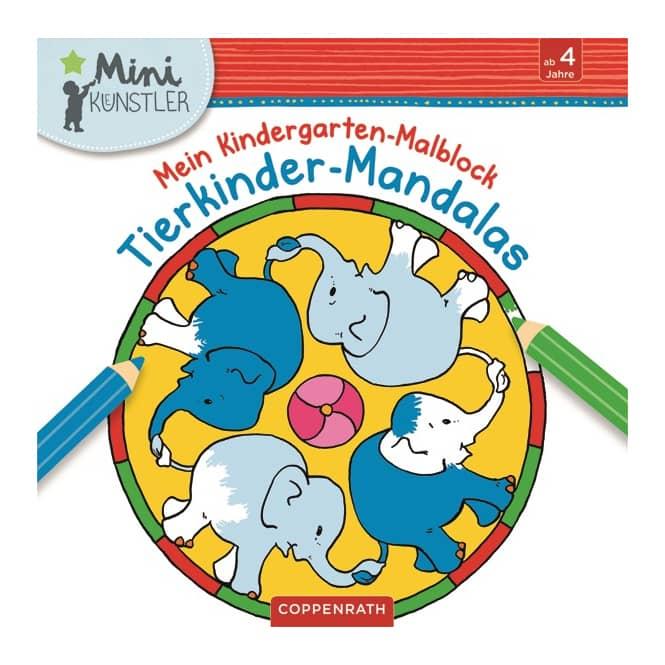 Mein Kindergarten Malblock - Tierkinder Mandalas