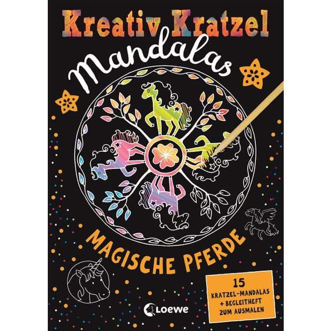 Kreativ Kratzel Mandalas - Magische Pferde